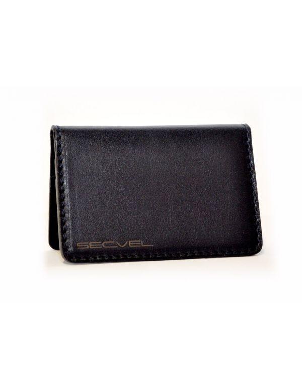 Kartenschutztasche Echt Leder Edition Schwarz