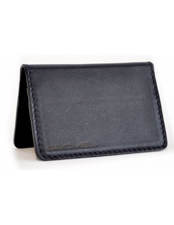 Kartenschutztasche Echt Leder Edition Marineblau