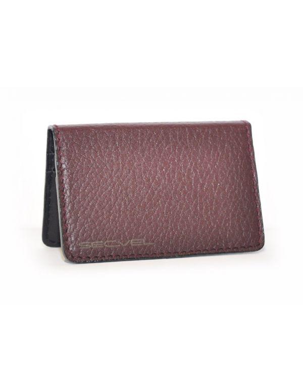 Kartenschutztasche Echt Leder Edition Bordeauxrot