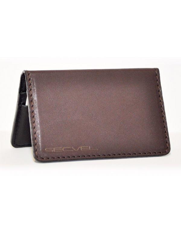 Kartenschutztasche Echt Leder Edition Dunkelbraun