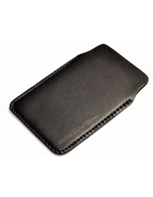 Kartenschutzhülle aus Echt Leder Schwarz